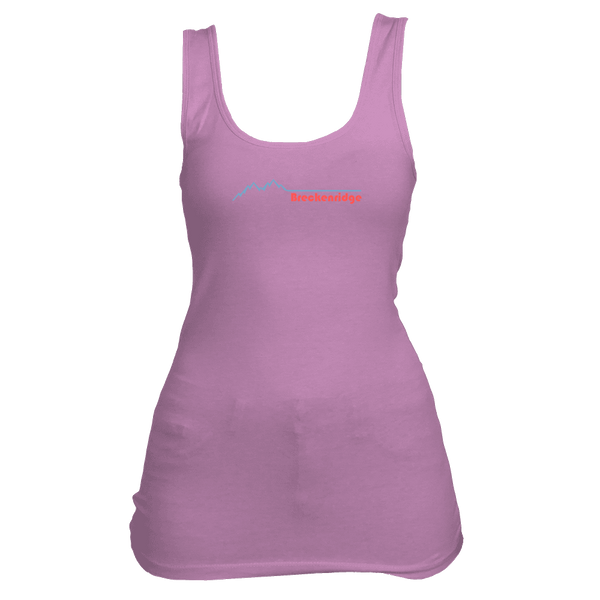 Breckenridge, Colorado Retro Mountain Pulse- Women's Tank Top