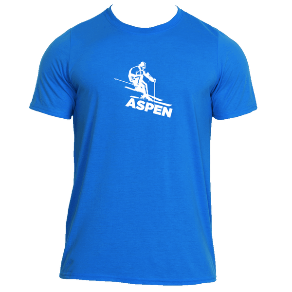 Aspen, Colorado Snow Skiing - Men's Moisture Wicking T-Shirt