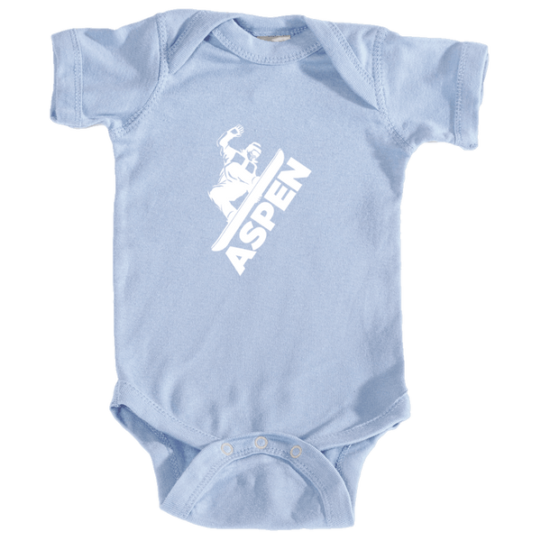 Aspen, Colorado Snowboarding - Infant Onesie/Bodysuit