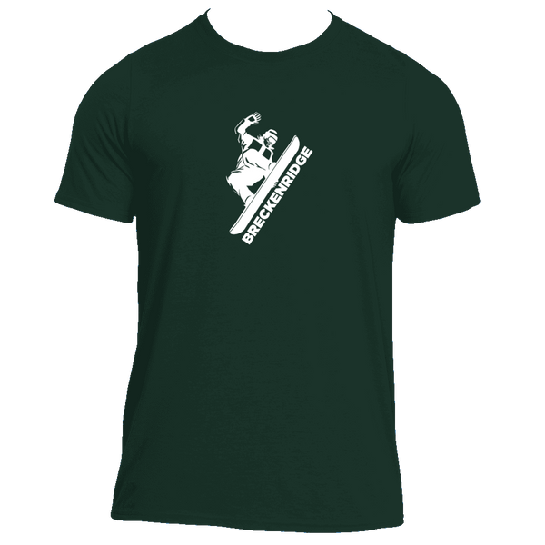 Breckenridge, Colorado Snowboarding - Men's Moisture Wicking T-Shirt