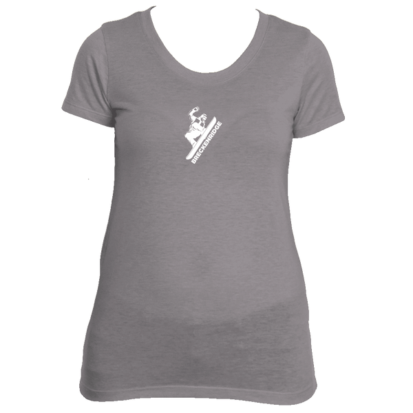 Breckenridge, Colorado Snowboarding - Women's Tri-Blend T-Shirt