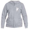 Breckenridge, Colorado Snowboarding - Women's Full-Zip Hooded Sweatshirt/Hoodie