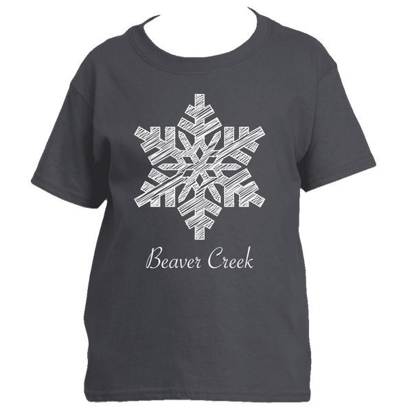 Beaver Creek, Colorado Snowflake - Youth/Kid's T-Shirt