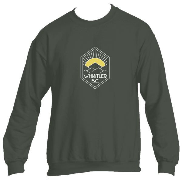 Whistler BC Yellow Mountain Sunrise - Canada Men's Fleece Crew Sweatshirt