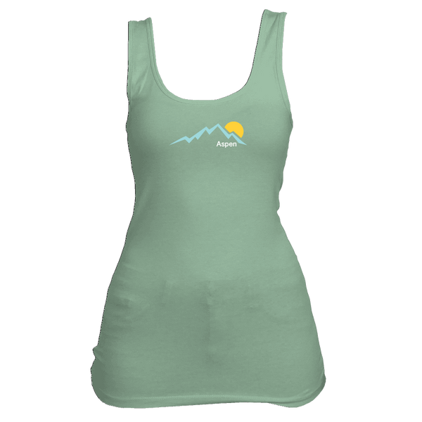 Aspen, Colorado Mountain Sunset - Women's Tank Top