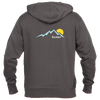 Boulder, Colorado Mountain Sunset - Men's Full-Zip Hooded Sweatshirt/Hoodie