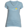 Breckenridge, Colorado Mountain Sunset - Women's V-Neck T-Shirt