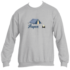 Aspen Camping & Camp Fire - Colorado Men's Fleece Crew Sweatshirt