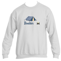 Boulder Camping & Camp Fire - Colorado Men's Fleece Crew Sweatshirt