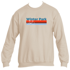 Winter Park Retro Bike & Mountain Bike - Colorado Men's Fleece Crew Sweatshirt