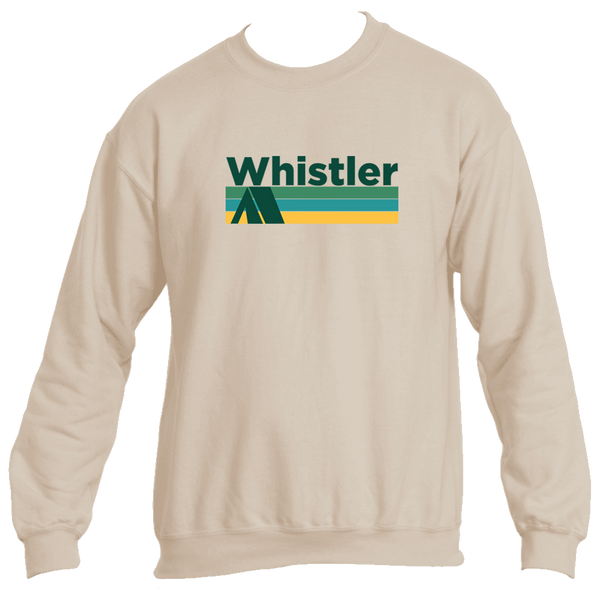 Whistler BC Retro Camping - Canada Men's Fleece Crew Sweatshirt