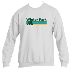 Winter Park Retro Camping - Colorado Men's Fleece Crew Sweatshirt