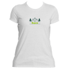 Aspen, Colorado Mountain & Trees in Green - Women's Moisture Wicking T-Shirt