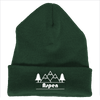 Aspen, Colorado Mountain & Trees - Embroidered Knit Beanie