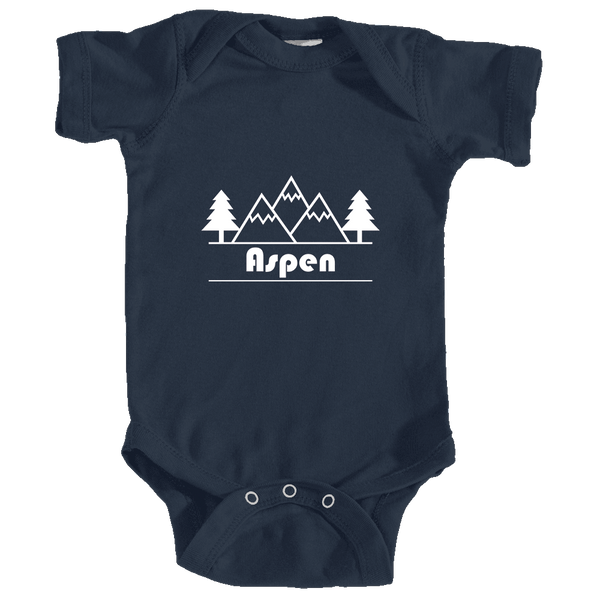 Aspen, Colorado Mountain & Trees - Infant Onesie/Bodysuit