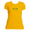 Beaver Creek, Colorado Mountain & Trees in Green - Women's Moisture Wicking T-Shirt