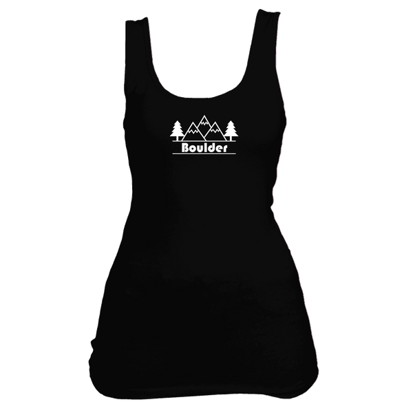 Boulder, Colorado Mountain & Trees - Women's Tank Top