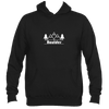Boulder, Colorado Mountain & Trees - Men's Hooded Sweatshirt/Hoodie