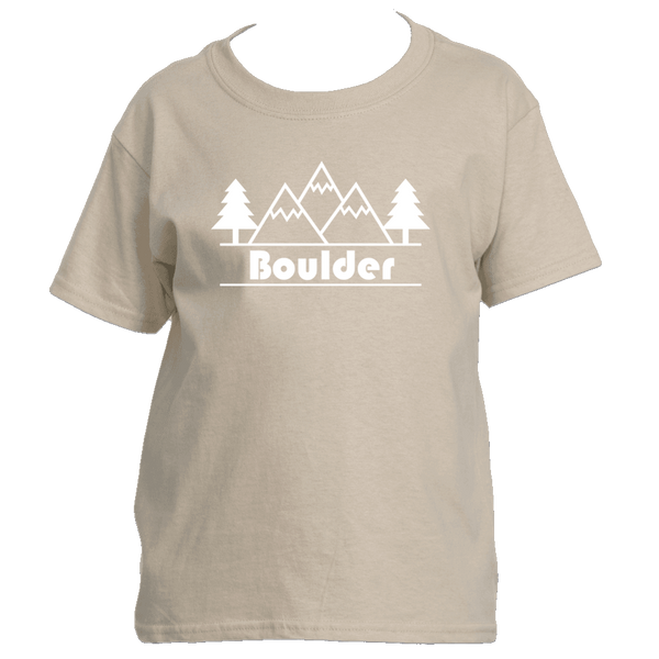 Boulder, Colorado Mountain & Trees - Youth/Kid's T-Shirt