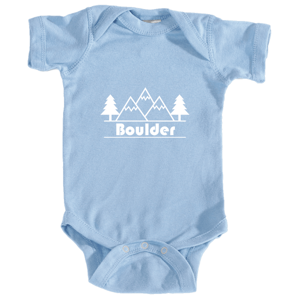 Boulder, Colorado Mountain & Trees - Infant Onesie/Bodysuit