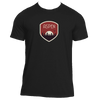 Aspen, Colorado Tree Sunset Badge - Men's Moisture Wicking T-Shirt