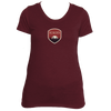 Boulder, Colorado Tree Sunset Badge - Women's Tri-Blend T-Shirt