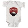 Boulder, Colorado Tree Sunset Badge - Infant Onesie/Bodysuit