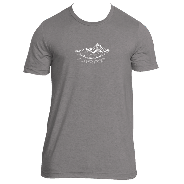 Beaver Creek, Colorado Vintage Mountain Drawing - Men's Tri-Blend T-Shirt