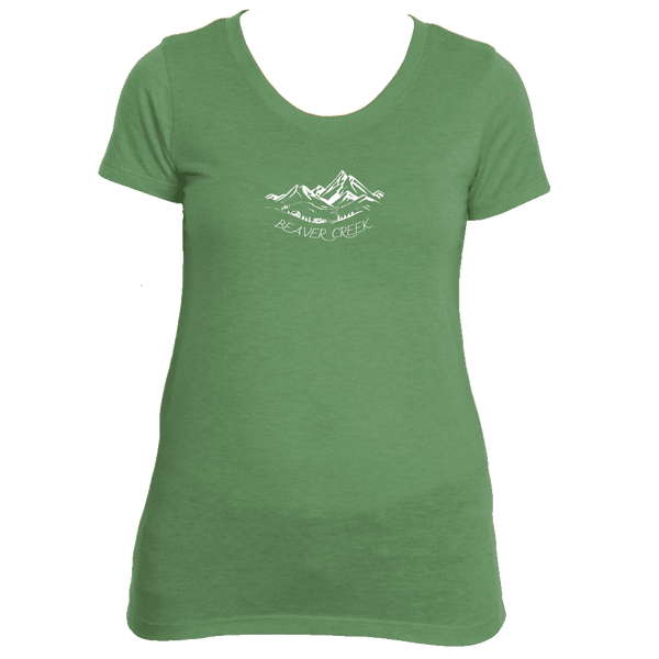 Beaver Creek, Colorado Vintage Mountain Drawing - Women's Tri-Blend T-Shirt