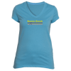 Beaver Creek, Colorado Vintage Cross Skis - Women's V-Neck T-Shirt