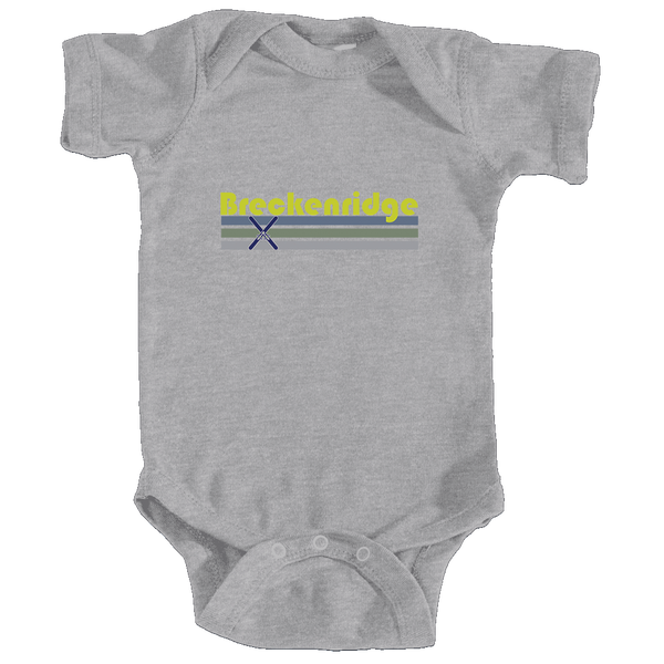 Breckenridge, Colorado Vintage Cross Skis - Infant Onesie/Bodysuit