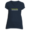 Breckenridge, Colorado Vintage Cross Skis - Women's V-Neck T-Shirt