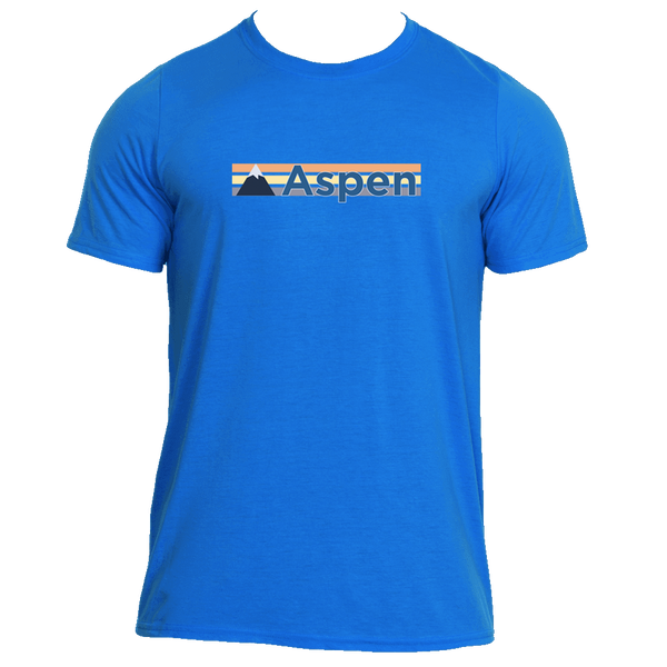 Aspen, Colorado Retro Mountain - Men's Moisture Wicking T-Shirt