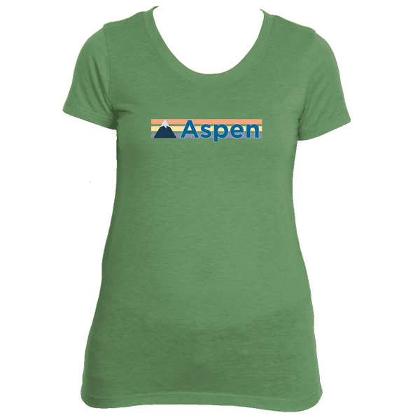 Aspen, Colorado Retro Mountain -  Women's Tri-Blend T-Shirt
