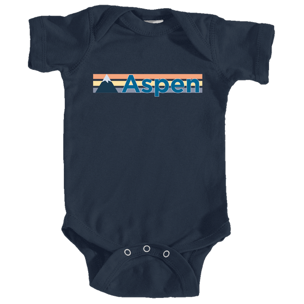 Aspen, Colorado Retro Mountain - Infant Onesie/Bodysuit