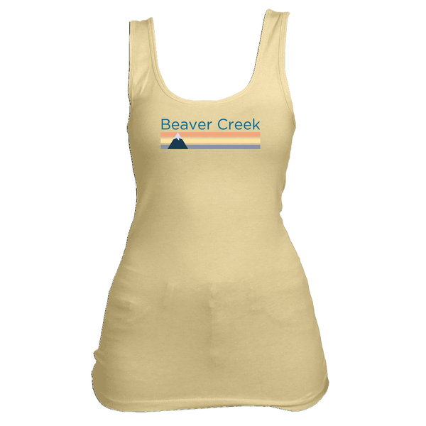Beaver Creek, Colorado Retro Mountain - Women's Tank Top