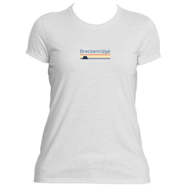 Breckenridge, Colorado Retro Mountain - Women's Moisture Wicking T-Shirt
