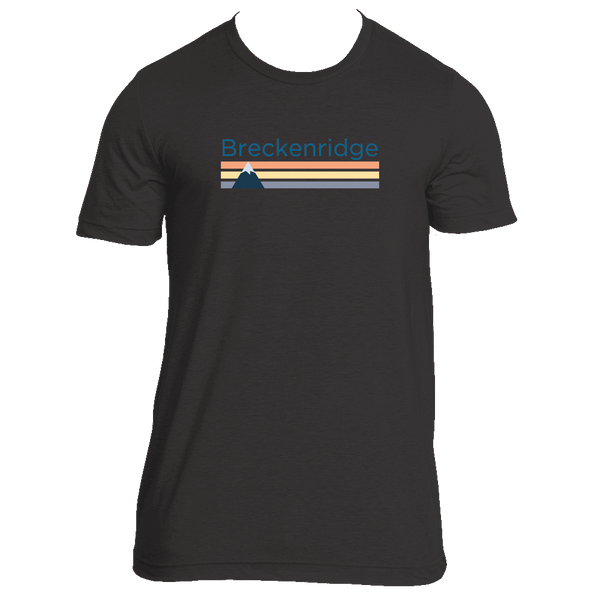 Breckenridge, Colorado Retro Mountain - Men's T-Shirt
