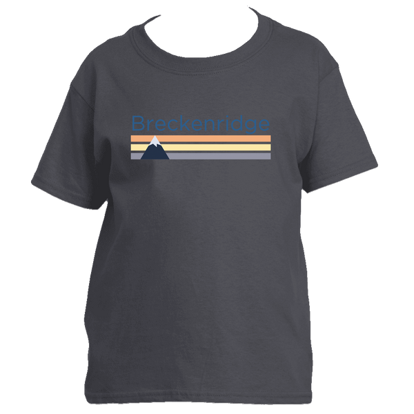 Breckenridge, Colorado Retro Mountain - Youth/Kid's T-Shirt