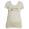 Breckenridge, Colorado Retro Mountain -  Women's Tri-Blend T-Shirt