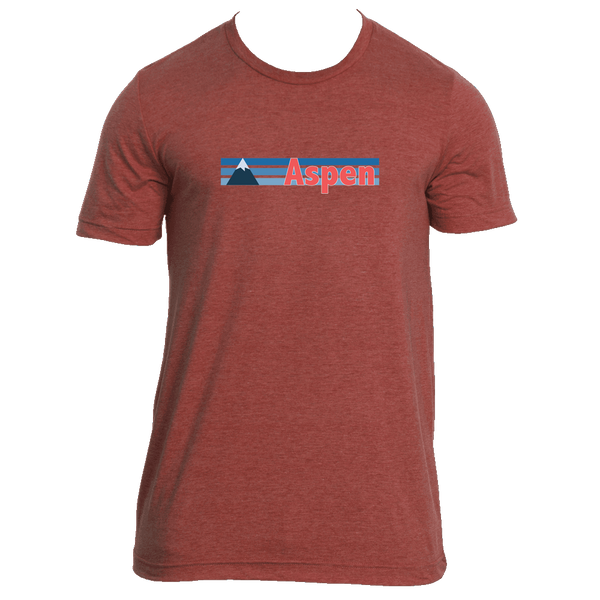 Aspen, Colorado Vintage Mountain - Men's T-Shirt