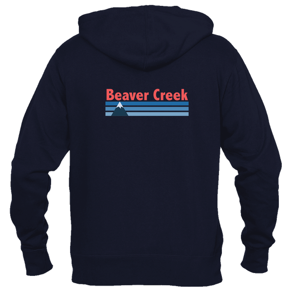 Beaver Creek, Colorado Vintage Mountain - Women's Full-Zip Hooded Sweatshirt/Hoodie