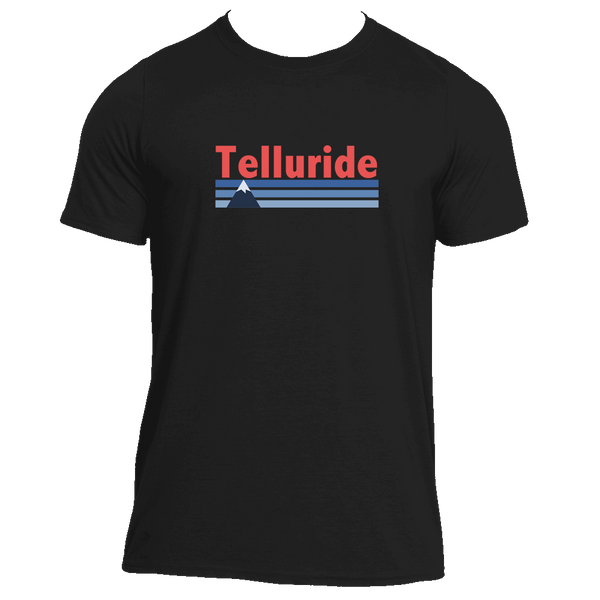 Telluride, Colorado Vintage Mountain - Men's Moisture Wicking T-Shirt