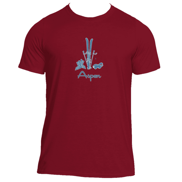 Aspen, Colorado Vintage Snow Ski - Men's Moisture Wicking T-Shirt