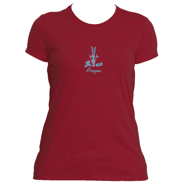Aspen, Colorado Vintage Snow Ski - Women's Moisture Wicking T-Shirt