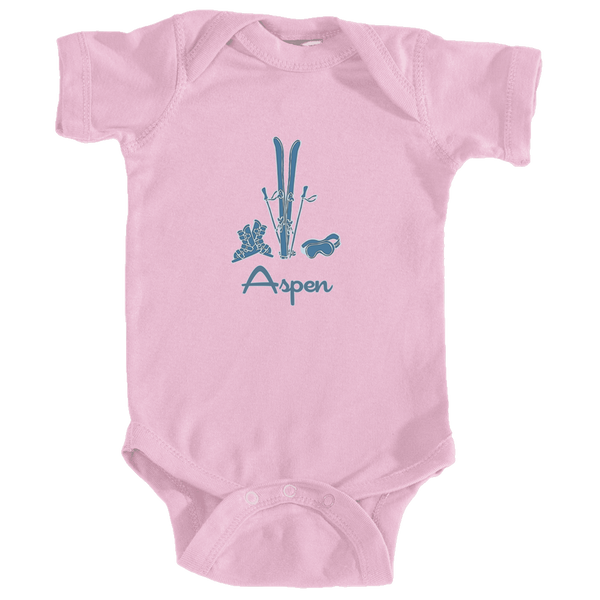 Aspen, Colorado Vintage Snow Ski - Infant Onesie/Bodysuit