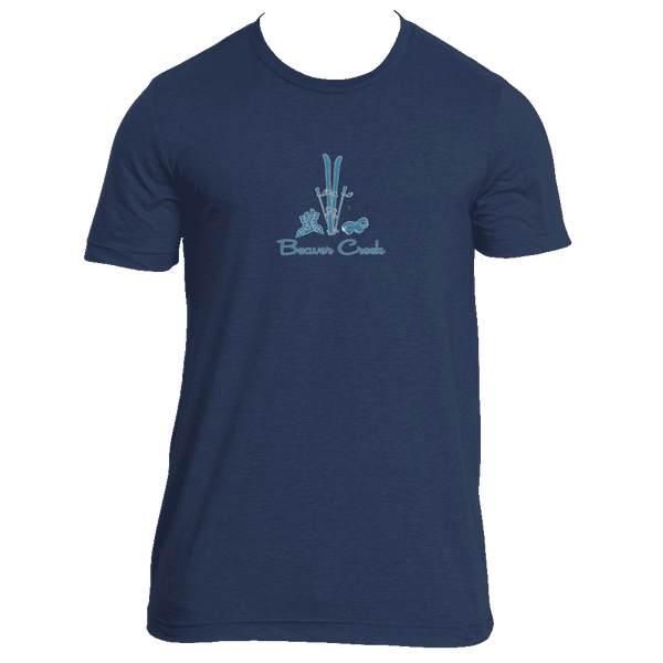 Beaver Creek, Colorado Vintage Snow Ski - Men's Tri-Blend T-Shirt