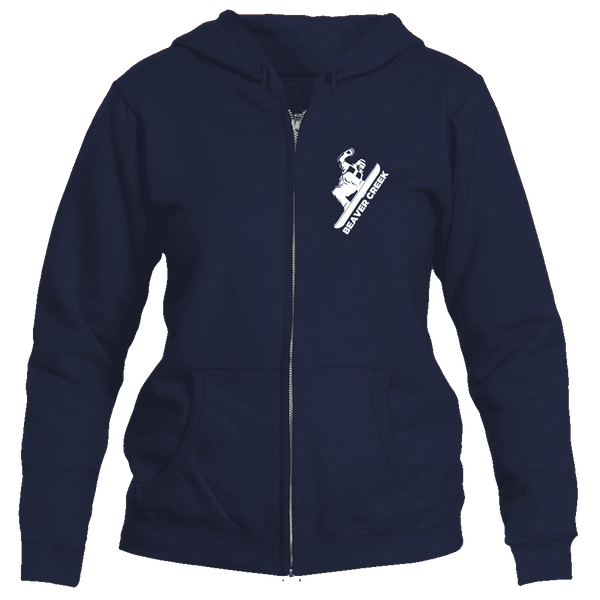 Beaver Creek, Colorado Snowboarding - Women's Full-Zip Hooded Sweatshirt/Hoodie
