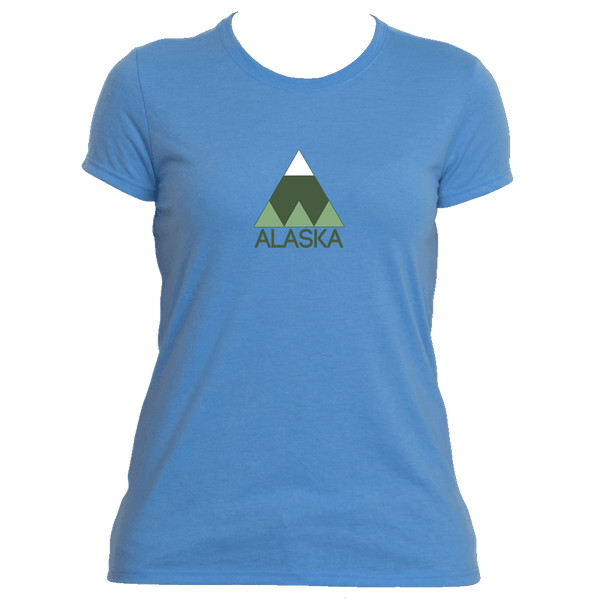 Alaska Minimal Mountain - Alaska Women's Moisture Wicking T-Shirt
