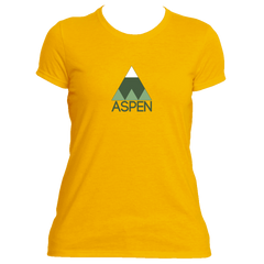 Aspen Minimal Mountain - Colorado Women's Moisture Wicking T-Shirt